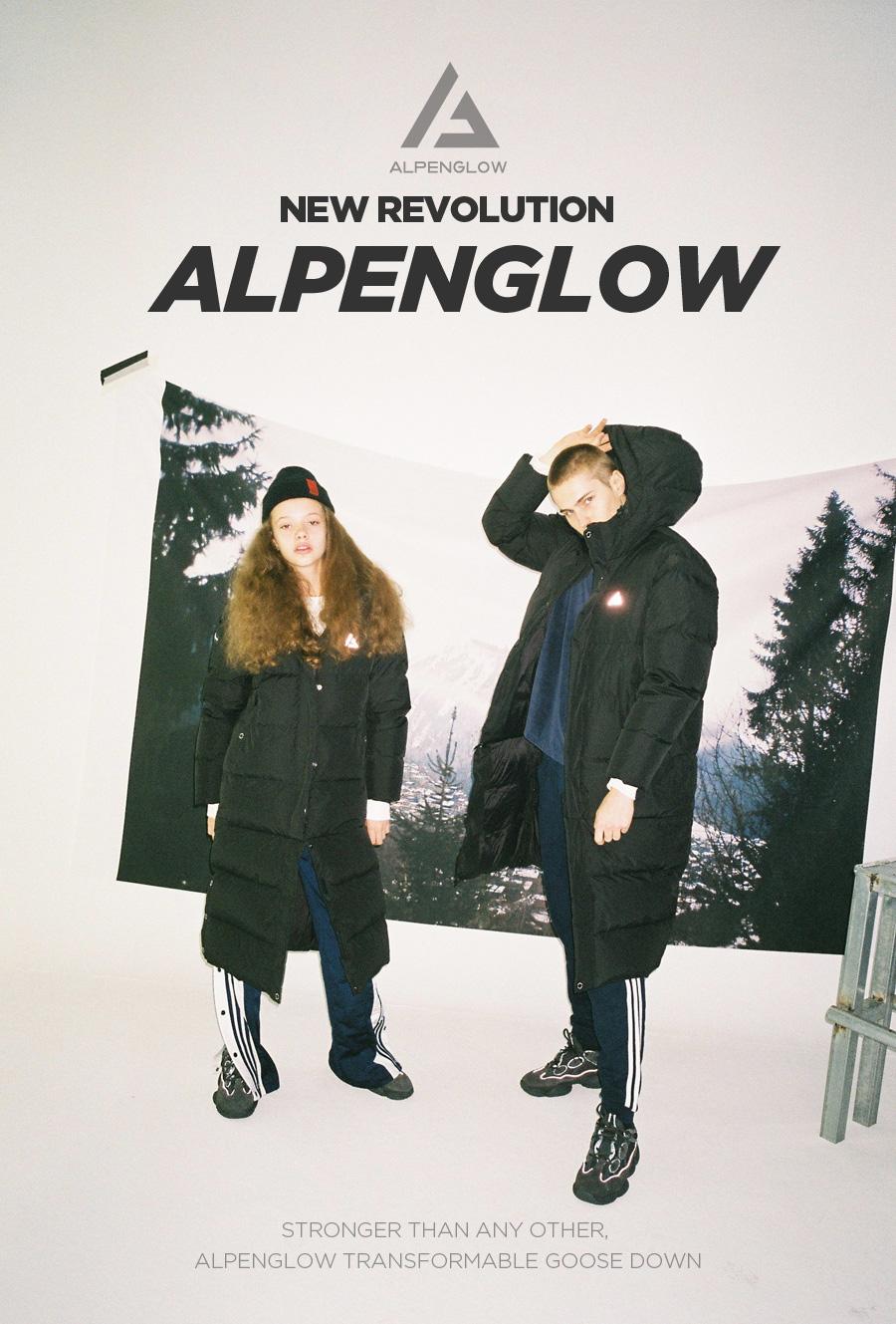 알펜글로우(ALPENGLOW) 알펜글로우 4단혁명 구스롱패딩/제트블랙